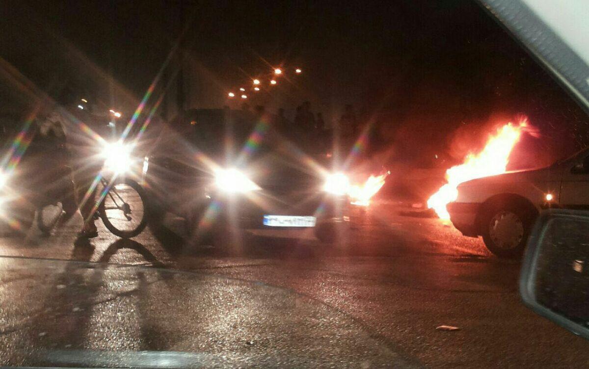 تظاهرات ومواجهات في حي الثورة بالأحواز