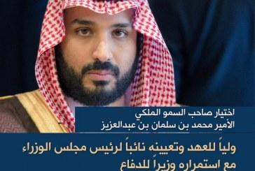 الأمير محمد بن سلمان وليا للعهد للمملكة العربية السعودية