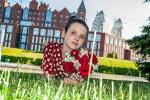 Baby photos, a girl in the grass