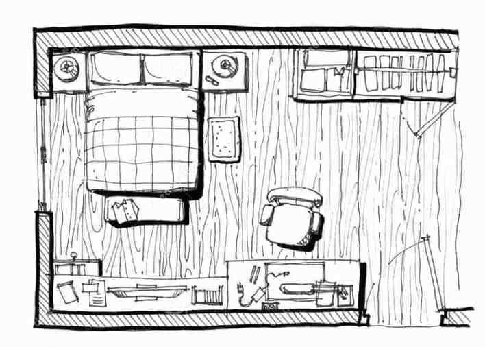 نموذج لمخطط توزيع غرفة نوم