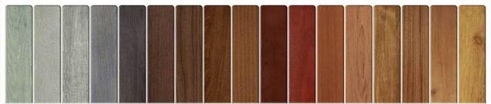 تشكيلات متعددة من الألومنيوم ذو التاثير الخشبي