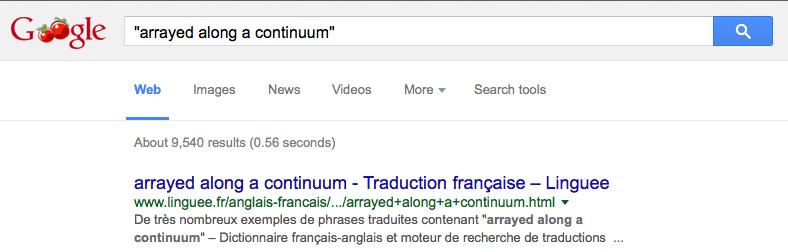 """arrayed along a continuum"""