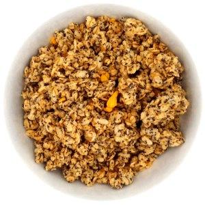 Crunchy de avena con semillas de amapola y trozos de naranja ECO