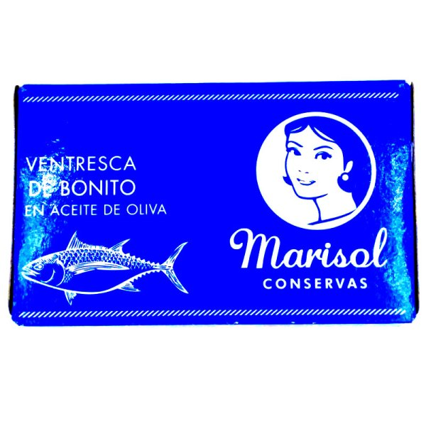 Bonito. Ventresca en aceite de oliva. Lata 120gr. Marisol.