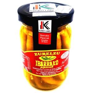 Piparras en vinagre de vino blanco Tarro cistal 190 gr. Zubalzu Ibarrako.