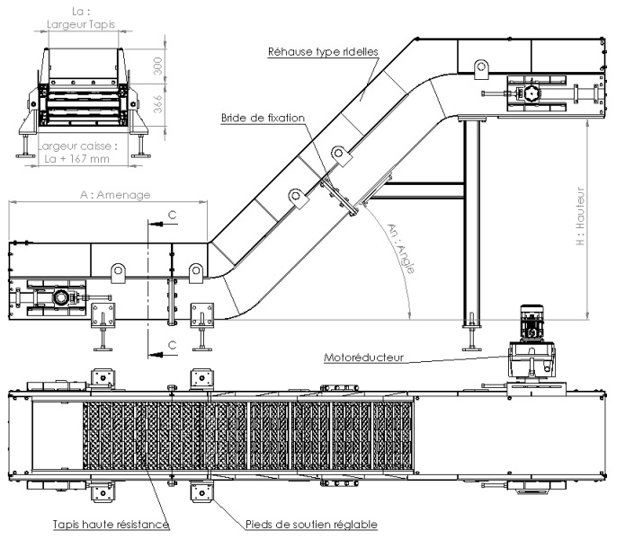 Plan convoyeur T100-45