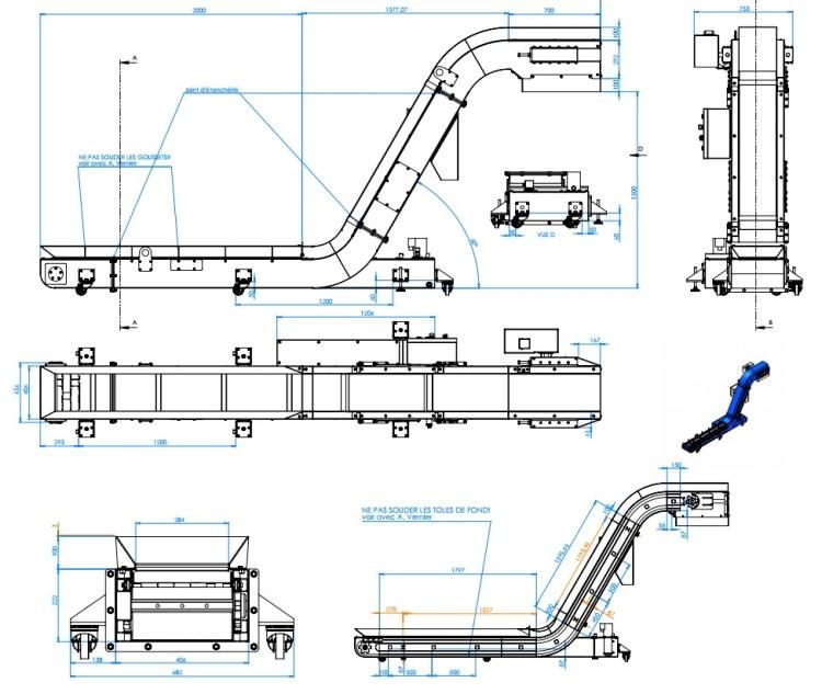 Plans Convoyeur a tapis AL Industrie