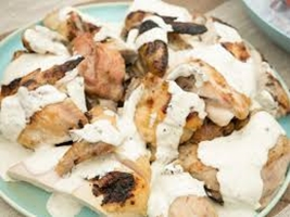 صوص أبيض للدجاج المشوي