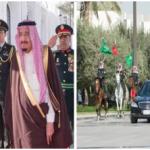 """بالصور:خادم الحرمين يستقبل رئيس الصين استقبالا """"استثنائيا""""ويقيم مأدبة غداء تكريما له"""