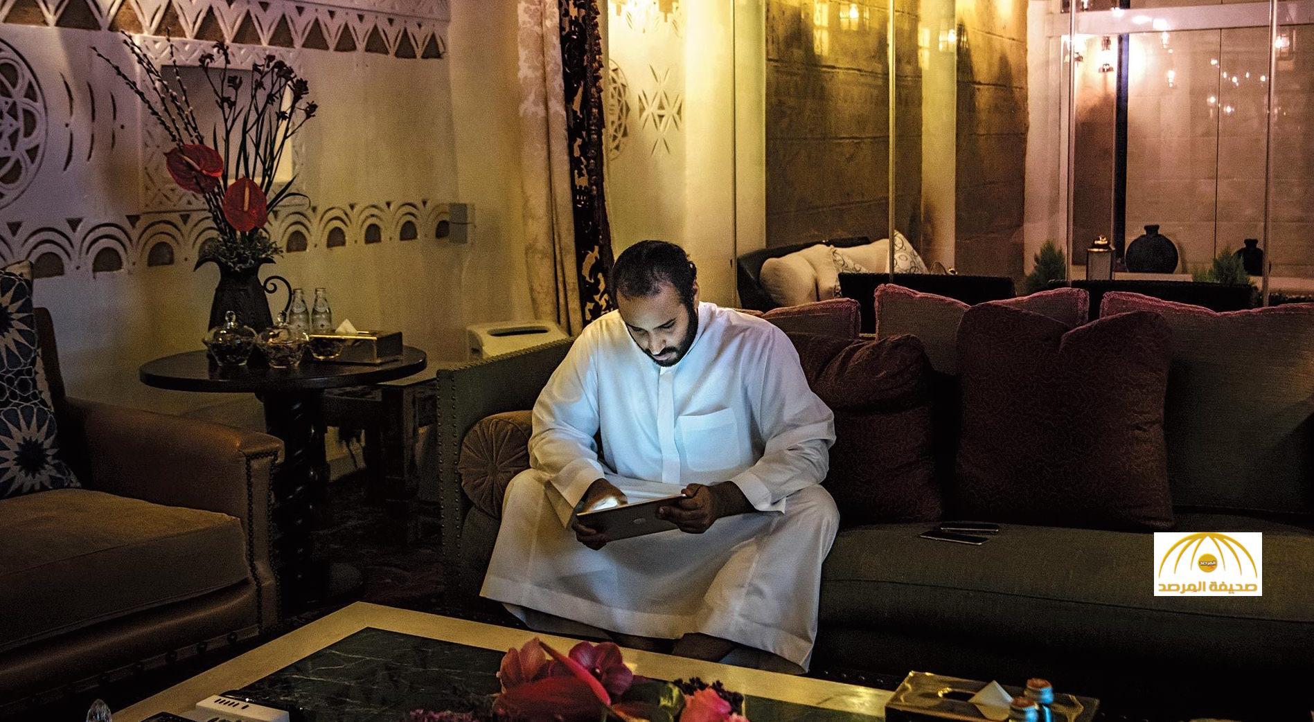 """شاهد:شبكة """"بلومبرج"""" تنشر صورا للأمير محمد بن سلمان من داخل قصره"""