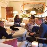 """لماذا طمست جملة من على إحدى اللوحات بقصر """"كينج استون""""قبل وصول أوباما وزوجته؟"""