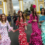 بالصور: خيول وثيران ونساء يرقصن فلامنكو..مهرجان اسباني