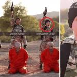 بالصور: أطفال داعش  يصفون 5 أسرى في سوريا