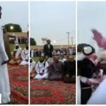 بالفيديو: شاهد لحظة تنازل أولياء دم عن قاتل قريبهم