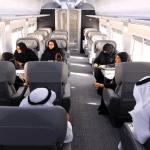 """بالصور والفيديو : انطلاق """"قطار الشمال"""" في رحلة تجريبية بـوزراء وأعضاء شورى"""