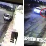 بالفيديو : لحظة ضرب حارس استراحة و دهسه بسيارة في حائل
