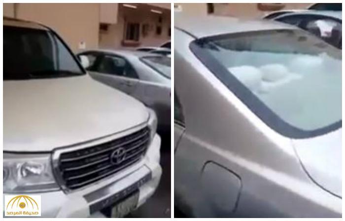 شاهد .. سكان عمارة في الدمام يخرجون من المنزل في الصباح ليتفاجؤون بهذا المنظر !!
