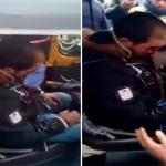 هرب خوفا من الأهالي .. بالفيديو : ضابط شرطة مصري يطلق النار على رأس سائق توك توك