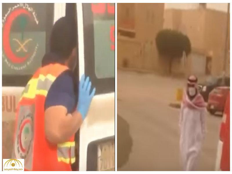 بالفيديو:الهلال الأحمر يباشر حالات اختناق طلاب بغبار الرياض