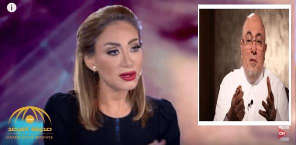 """شاهد: ردة فعل الإعلامية المصرية ريهام سعيد بعدما وصفها الداعية الجندي بـ""""الراقصة"""" وفتاة الجنس!"""