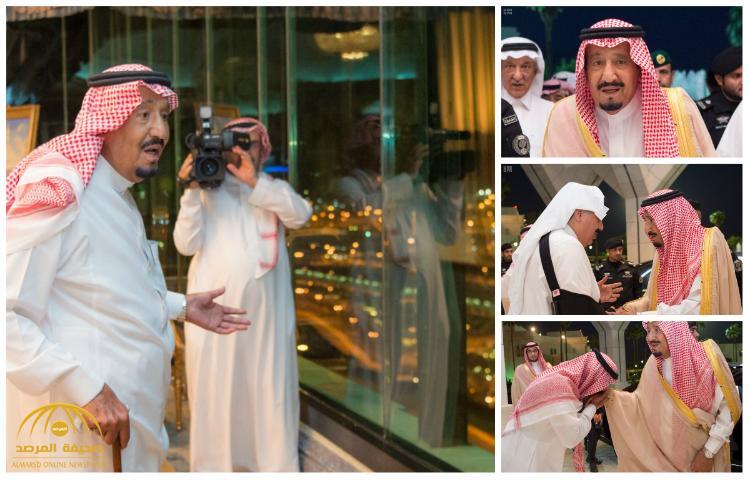 شاهد بالصور لحظة وصول خادم الحرمين إلى منى ليشرف على راحة الحجاج والخدمات المقدمة لهم
