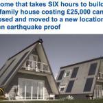 شاهد : منزل  بقيمة 25 ألف جنيه استرليني يتم طيّه و إعادة بنائه في 6 ساعات فقط