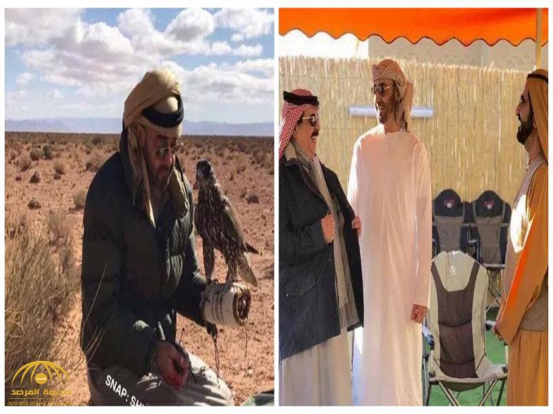 شاهد بالصور: ولي عهد أبو ظبي وملك البحرين في رحلة قنص بالمغرب!