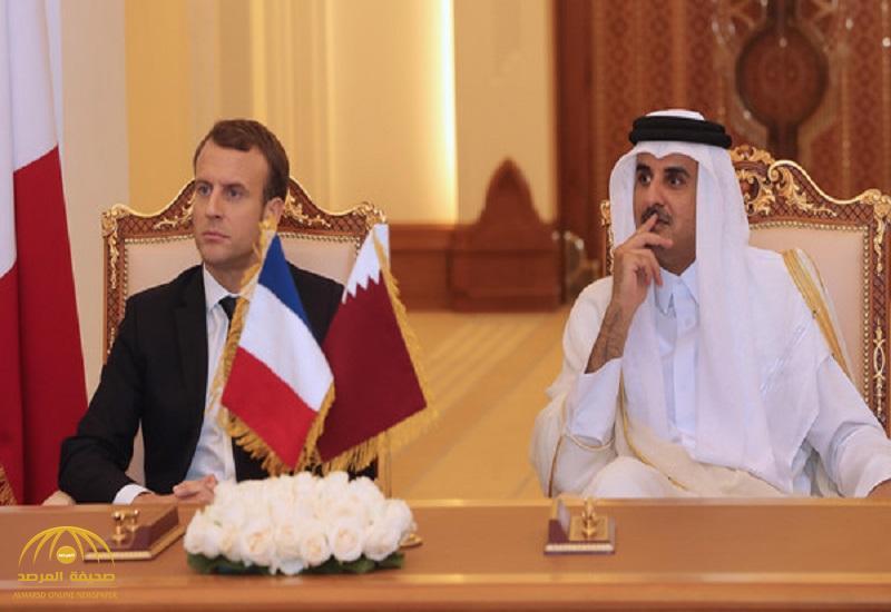 """بعد توقيعهما خطاب """"تعزيز الحرب على الإرهاب"""".. هذا ما قاله تميم للرئيس الفرنسي عن """"الأزمة القطرية"""""""