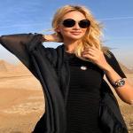 بالصور .. ملكة جمال روسيا تروج لكأس العالم 2018 من الإهرامات