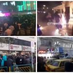 تقرير: المباغتة والذعر والتخبط لنظام الملالي والاعتراف بتوسع الانتفاضة العارمة في إيران – فيديو