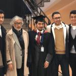 """بالصور : البروفيسور """"صالح بن سبعان"""" يحتفل بحصول ابنه المهندس """"فهد"""" على الماجستير من بريطانيا"""