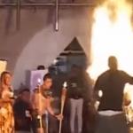 شاهد.. احتراق ملكة جمال السلفادور على خشبة المسرح!