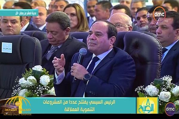 """بالفيديو .. السيسي يعلن عن أضخم مشروع في تاريخ مصر لمواجهة مشكلة """"سد النهضة"""" الإثيوبي"""