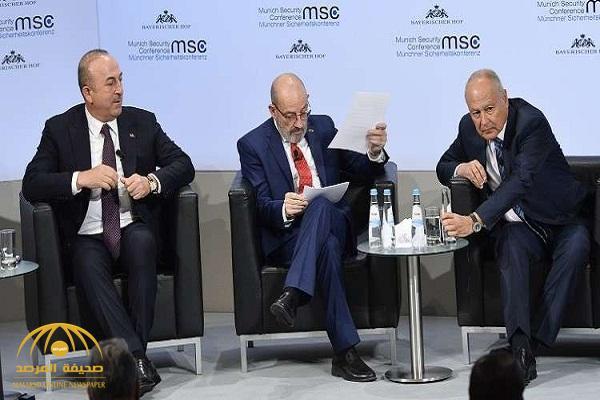 الجامعة العربية تنتقد ردّ وزير خارجية تركيا على أبو الغيط في ميونيخ