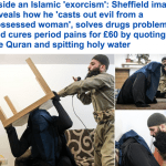 """فيديو: شاهد.. إمام مسجد في بريطانيا يطرد """"جن عاشق"""" من"""" فتاة"""" مقابل 60 جنيه إسترليني !"""