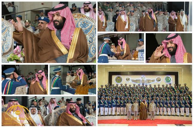 بالصور : ولي العهد يرعى حفل تخريج الدفعة 93 من طلبة كلية الملك فيصل الجوية
