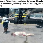 """شاهد بالصور: مضيفة تقفز من باب طائرة """"الإماراتية"""" قبل إقلاعها.. وهذا ما حدث لها!"""