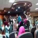 """بالفيديو.. """"طلاب مصريون"""" يحولون جامعة طنطا لـ """"ملهى ليلي"""""""