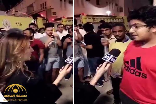 شاهد .. شاب يحرج مراسلة قناة فضائية في الرياض : أنتِ صاروخ أقوى من صاروخ الحوثي!