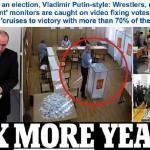 شاهد: مقطع فيديو يوثق عملية تزوير في انتخابات الرئاسة الروسية التي فاز بها بوتين!