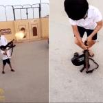 شرطة الرياض تصدر بيانًا حول طفل الـ (رشاش).. وتقبض على مصور الفيديو وتكشف عن هويته!