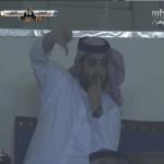 """لمن أشار """"تركي آل الشيخ """" بإيماءة تدل على استيائه أثناء مباراة الهلال والفتح؟-فيديو"""