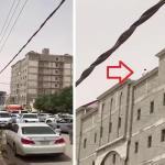 فيديو يحبس الأنفاس.. شاب يقف على حافة بناية بحفر الباطن.. شاهد كيف انتهى المشهد؟