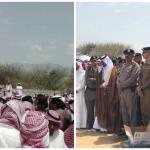 """بالصور: أهالي المجاردة يشيعون """"رجال الأمن الثلاثة"""" شهداء العملية الإرهابية بعسير"""