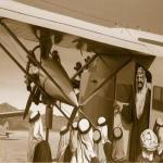 بالصور.. لوحات فنية للمؤسس تَزين صالة السفر بمطار جدة الجديد