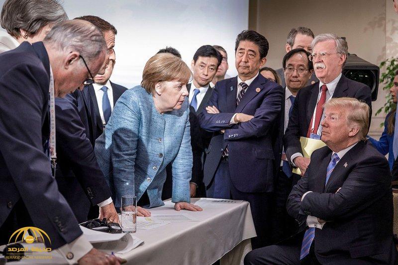 """بعد أن شغلت الجميع.. كيف علق الرئيس الأميركي """"ترامب"""" على الصورة الشهيرة لـ """"ميركل"""" بقمة الـ 7؟"""