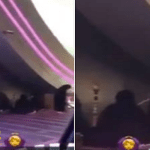 شاهد: نساء يرتدين العباءات ويدخن الشيشة عند بوابة مول تجاري!