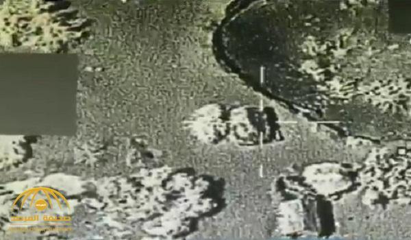 شاهد .. لحظة استهداف قوات التحالف منصة إطلاق طائرة بدون طيار تابعة لميليشيا الحوثي
