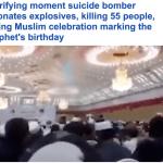 ترجمة حصرية : شاهد لحظة تفجير انتحاري جسده داخل قاعة أثناء احتفال بذكرى المولد النبوي بأفغانستان