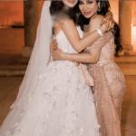 لجين عمران تكشف سر تعمدها إخفاء وجه ابنتها أثناء حفل زفافها بالبحرين.. وترد على متابعيها-صور